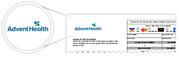Top of an AdventHealth bill
